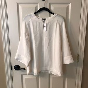 Ann Taylor Ivory Bell Sleeve Blouse - New!